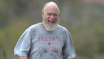 David Letterman -- Bald and Bearded in St. Barts!! (PHOTO)