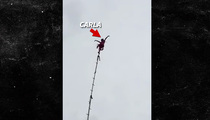 Carla Wallenda -- 80-Year-Old Great Grandma Just Hangin' Around ... 100 Feet in the Air (VIDEO)