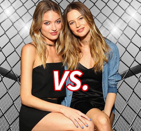 Battle of the model babes! Martha Hunt (26) vs. Behati Prinsloo (26)