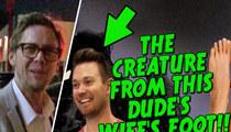 John Travolta -- Hotel Germ Fears Uncover Grotesque Foot Wart (TMZ ON TV)