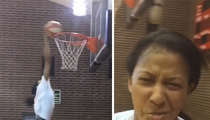 WNBA's Candace Parker -- WATCH ME DUNK ... We Don't Need Lower Rims!