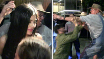 Kylie Jenner -- Stops for Young Fans This Time, But Grandpa Brawls with Photogs! (VIDEO)