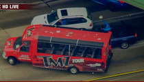 L.A. Car Chase -- TMZ Tour Bus Blocks Suspects (VIDEO)