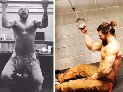 Jason Momoa Workout -- Lou Ferrigno Blown Away (VIDEO)
