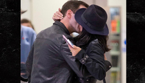 Courteney Cox and Johnny McDaid -- Kiss Me Again and Just Forget The World (PHOTO)