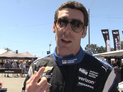 Racing Champ Simon Pagenaud -- I'M NOT SACHA BARON COHEN ... Please Stop (VIDEO)