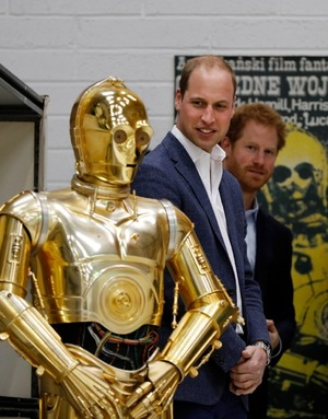 Harry and William -- Star Wars Field Trip