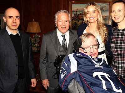 Stephen Hawking --  A Brief History of Tom ... I'm a Pats Fan Now
