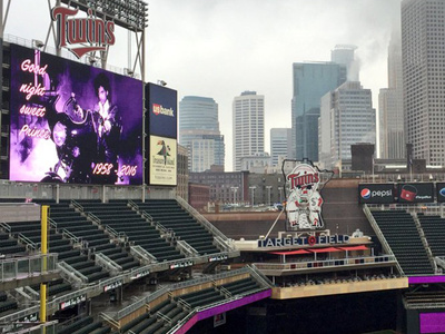 Minnesota Twins -- Purple Stadium Tribute ... To Honor Prince (PHOTO)