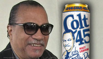 Billy Dee Williams -- Saddles Up Again to Pitch Colt 45 (PHOTO)