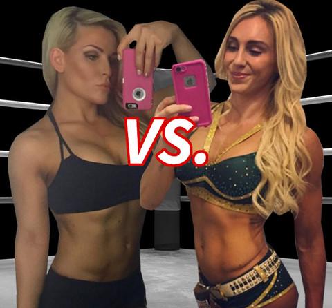 It's a match between wrestling legacies! Natalya Neidhart (33) vs. Charlotte Flair (30)