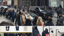 Justin Bieber -- Sets Up Shop in NYC ... Draws Massive Line (PHOTOS)