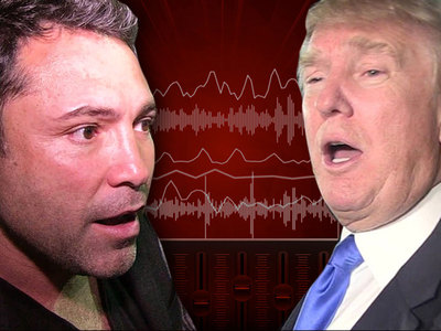 Oscar De La Hoya -- TRUMP'S A GOLF CHEATER ... I Saw It Myself