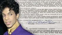 Prince -- Rare Signature Up for Sale (PHOTO)