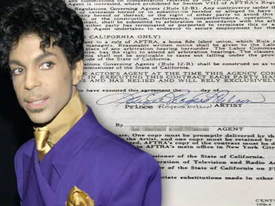 Prince -- Rare Signature Up for Sale (PHOTO)
