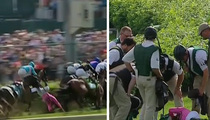 Churchill Downs -- Scary Crash Sends Horses, Riders Flying Before Kentucky Derby