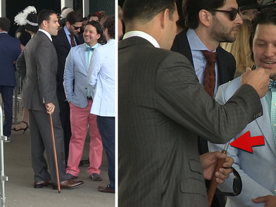 NFL's Mark Sanchez -- My Pimp Kentucky Derby Cane ... Is a Secret Flask!! (VIDEO)