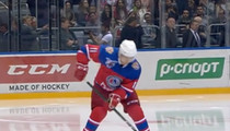 Vladimir Putin -- He Shoots, He Scores ... Smacks Goal In Russian Hockey Game (VIDEO)