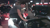 Taylor Lautner -- Parkours It Out of The Club (VIDEO)