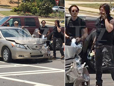 'The Walking Dead' -- Actors Jump to Rescue in Car Crash (PHOTOS)