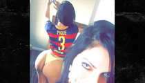 Soccer Star Pique -- Gets Hot Ass Message ... From Brazilian Beauty Queen (PHOTOS)