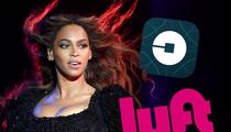 Beyonce -- Uber Strands Fans After Concert ... Exit Stage Lyft