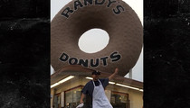 Justin Timberlake -- Randy's Donuts Employee Can't Stop The Feeling! (VIDEO)