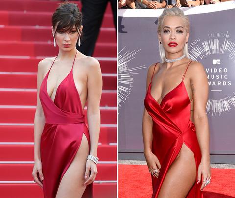 Ladies in Red -- Bella Hadid (19) vs. Rita Ora (25)