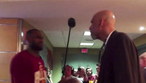 LeBron James -- Kareem'd After Playoff Victory (Awesome Video)