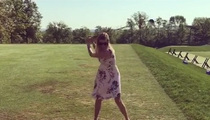 Ivanka Trump -- Golfing In Heels ... and CRUSHES It! (VIDEO)