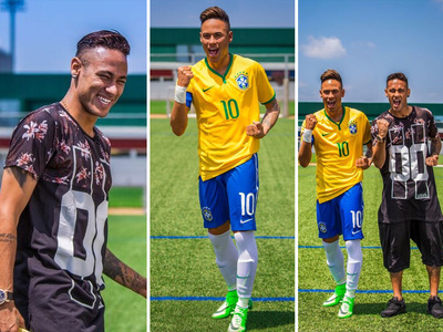 Neymar -- Check Out My Clone ... I'm Frickin' Beautiful! (PHOTOS)