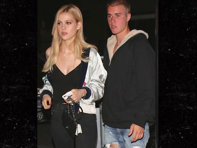 Justin Bieber -- Gets a Steak in Nicola Peltz (PHOTOS)