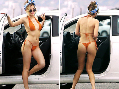 Bella Thorne -- Curves On The Roadside (PHOTOS)