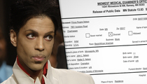 Prince --  Medical Examiner Says Fentanyl Overdose Caused Death