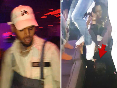 Chris Brown -- Head Stomps Fan at Concert  (VIDEO + PHOTO)
