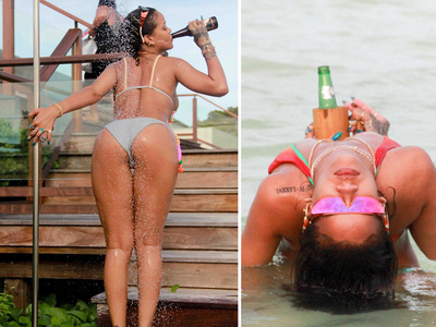 Rihanna -- I Can Work, Work, Work A Shower Pole ... (PHOTOS)