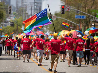 West Hollywood Pride -- Deputies Firearm-Ready for Parade