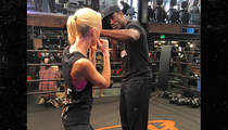 Boston Bombing Survivor -- Boxing Training ... With George Foreman's Son!