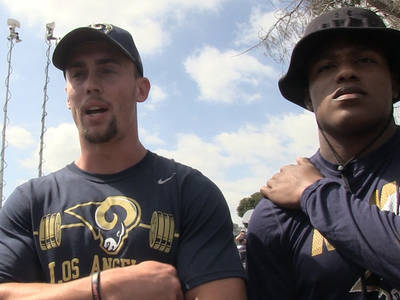 NFL's Stedman Bailey -- Praised By Rams' WRs ... He's a Great Coach! (VIDEO)