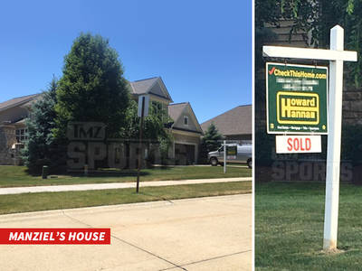 Johnny Manziel -- Goodbye Cleveland ... 'Sold' Sign on Suburban Crib (PHOTO)