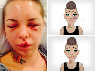Porn Star Christy Mack -- Creates Domestic Violence Emojis ... Black Eyes, Bruises (PHOTOS)