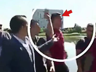 Cristiano Ronaldo -- Jacks Reporter's Mic ... Throws It In Lake (VIDEO)