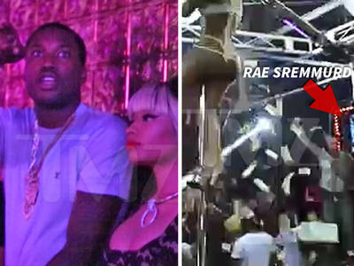 Nicki Minaj & Meek Mill -- Chill in Strip Club While Rae Sremmurd Blows Stacks (VIDEO)