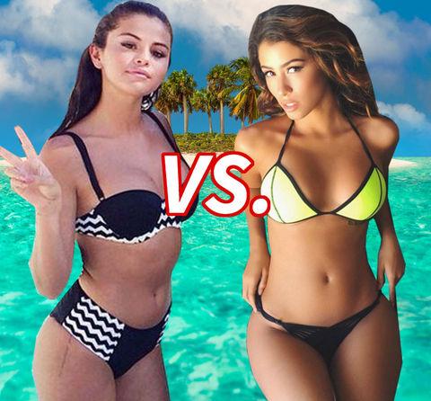 Who's the babest Belieber? Selena Gomez (23) vs. Alexandra Rodriguez (24)