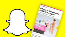 Snapchat Sued -- Kids Should Not Be Exposed to 'Fingering People'