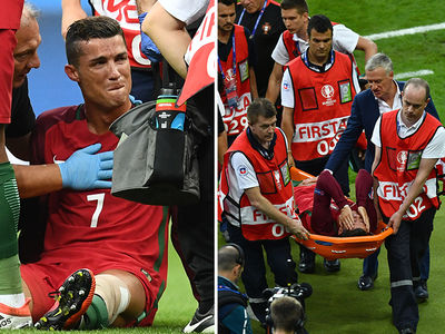 Cristiano Ronaldo -- Injured, Sobbing, Out of Action for Championship