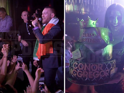 Conor McGregor -- Post UFC 200 Turn Up ... Bubbly & Birthday Cake!!