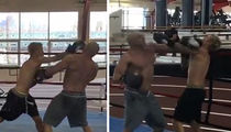 Justin Bieber -- Boxing with Muscle-Bound Trainer ... At NYC Gym (VIDEO)