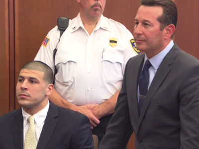 Aaron Hernandez -- First Court Date With Casey Anthony's Lawyer (PHOTO)