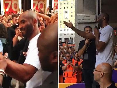 Kobe Bryant -- Crowd Goes Insane In Italy ... 'Feels Like I've Returned Home' (VIDEO)